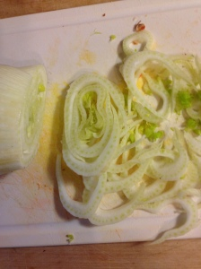 Thinly sliced fennel